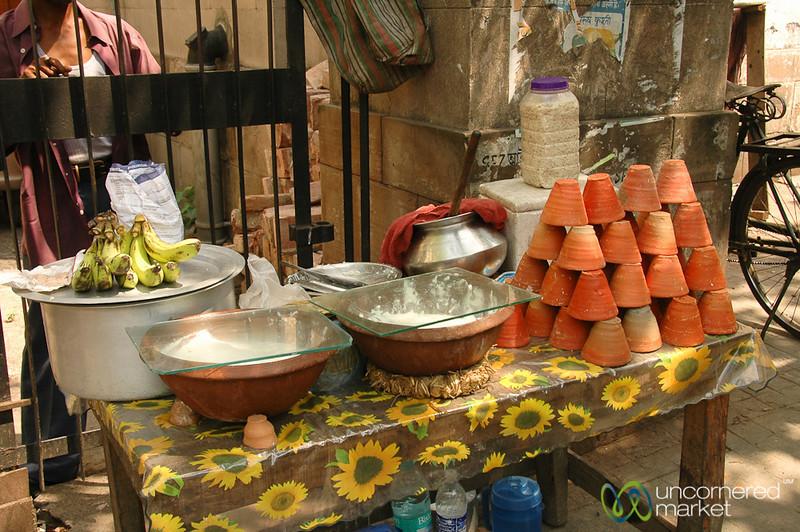 Yogurt Snacks on the Street - Kolkata, India