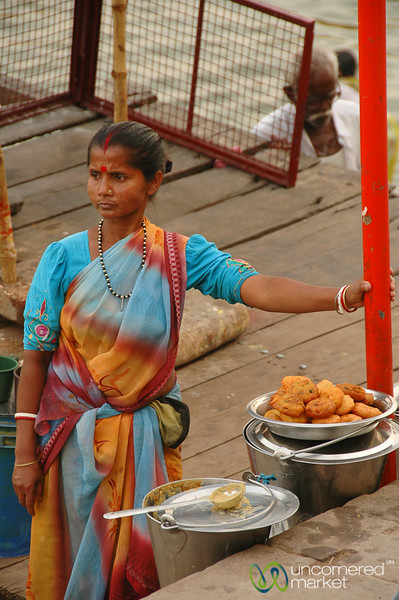 Street Food Vendor Along the Ghats - Varanasi, India