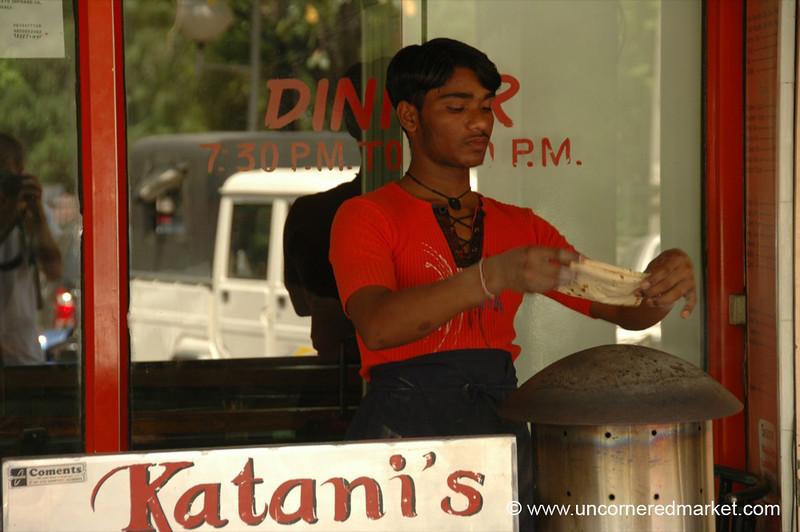 Cooking Roti in Chandigarh, India