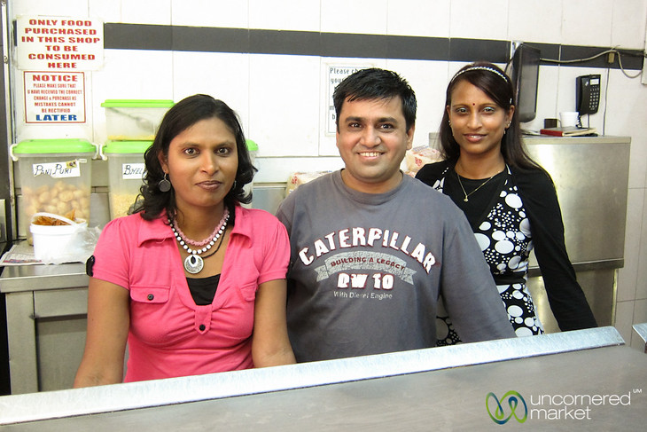 People behind Little Gujarat Restaurant - Durban, South Africa