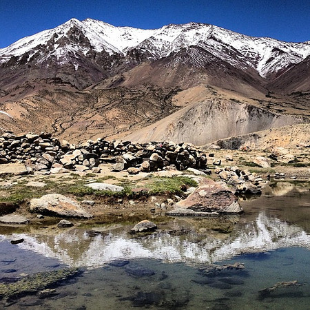 Perfect weather yields the perfect lunch spot. Opposite Kang Yaze at Tsokar Lake. Day 5, Markha Valley trek #Ladakh