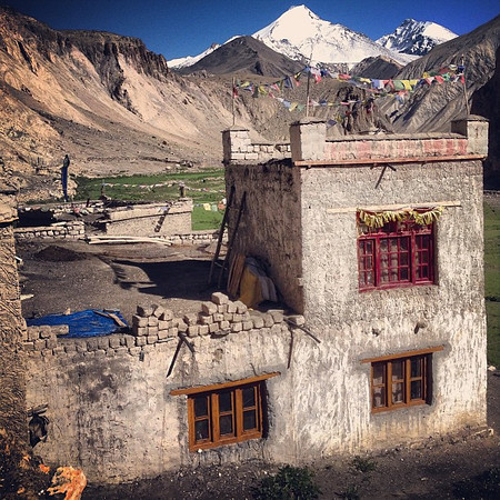 A room with a view. Hangkar, our village for one night. Day 4, Markha Valley trek #Ladakh