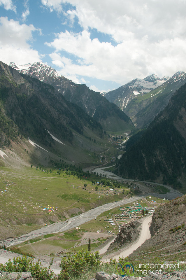 Journey to Ladakh, Traffic Jam Overlooking Sonamarg and Amarnath - Kashmir, India
