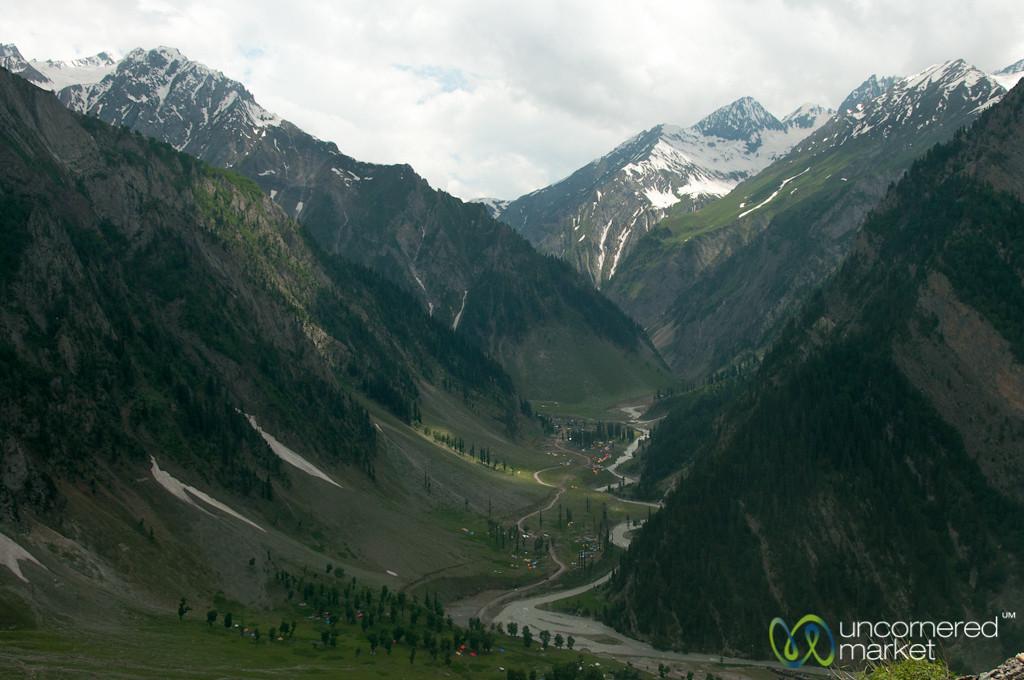 Kashmiri Mountains, View Overlooking Sonamarg and Amarnath - India