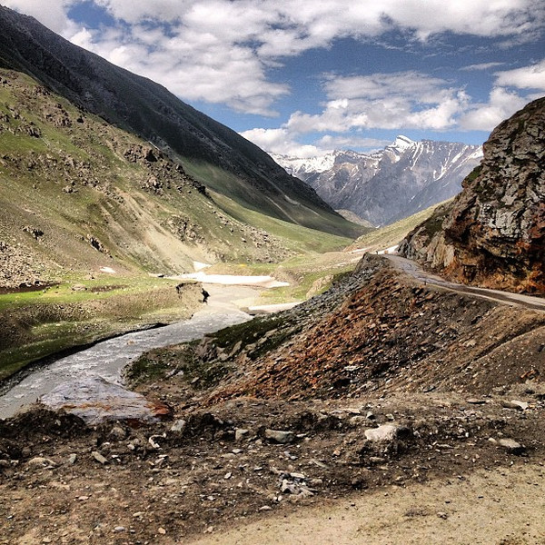 A landscape carved into quadrants, the never-ending bends of Kashmir.