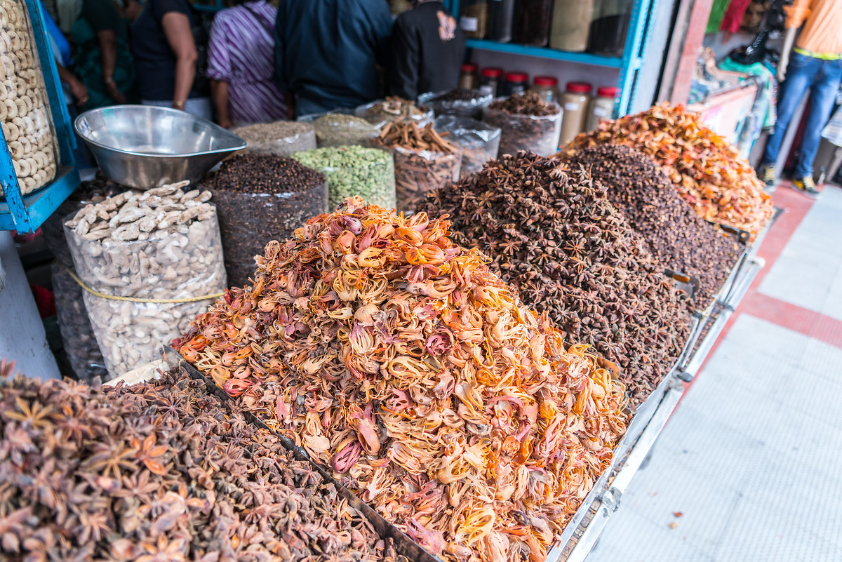 Spices for Sale in Kochi, India