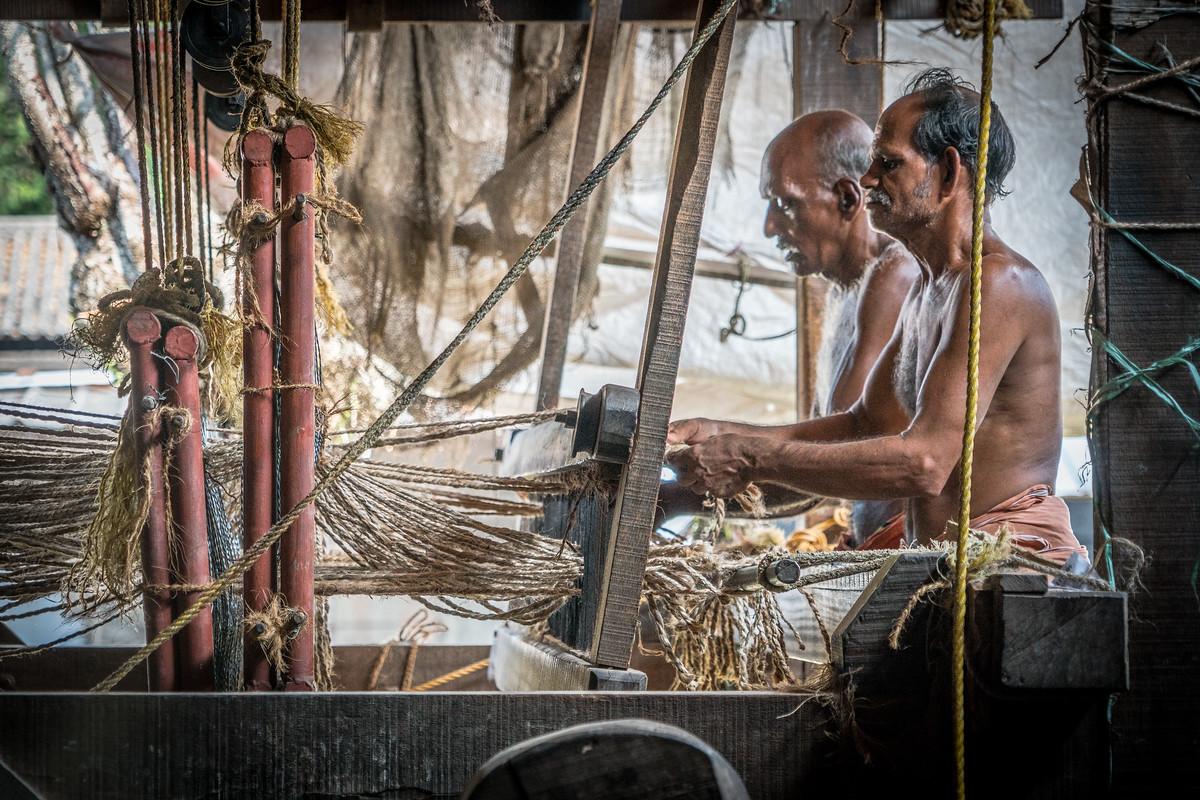 A coir coop in Kerala