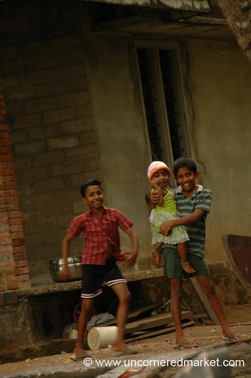 Sibling Fun - Kerala Backwaters, India
