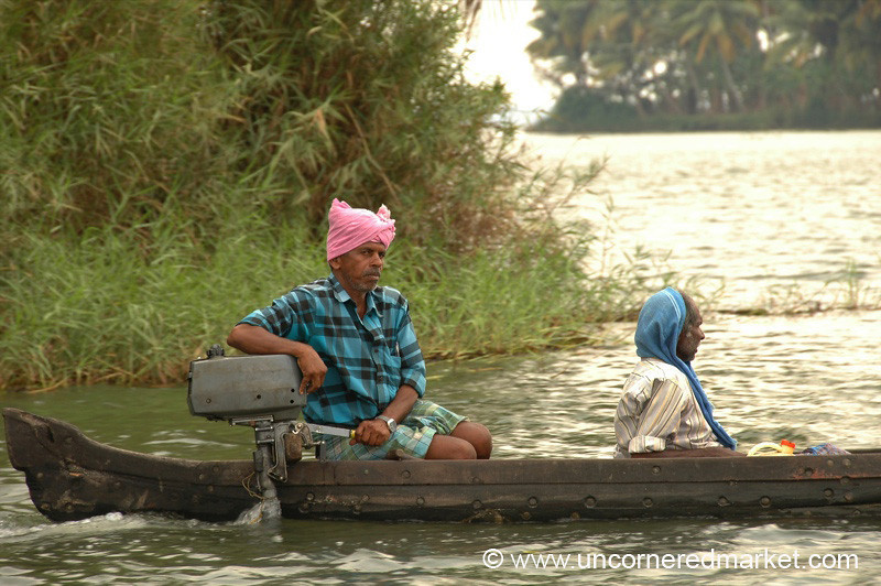 Rowing Home - Kerala Backwaters, India