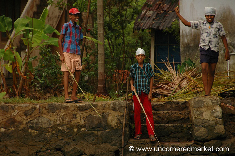 Friendly Boys - Kerala Backwaters, India