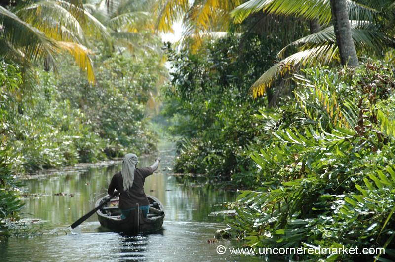 On the Way Home - Kerela Backwaters, India