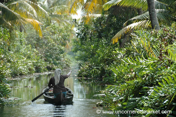 On the Way Home - Kerela Backwaters, India
