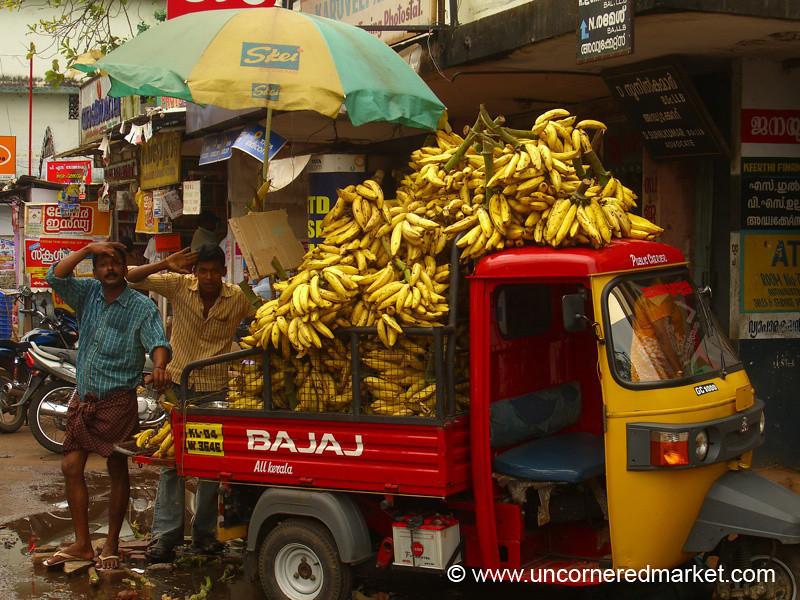 Banana Rickshaw: Alleppey, India