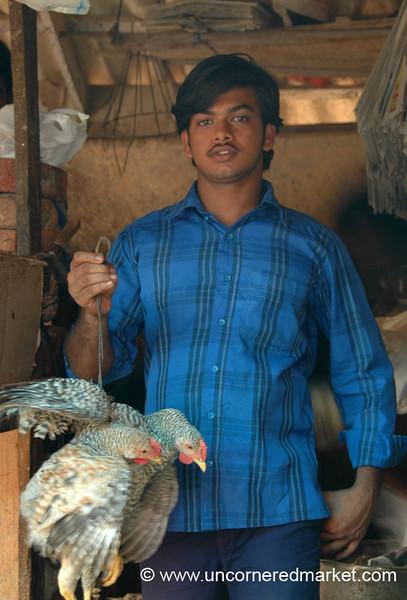 Man and His Birds - Kollam, India