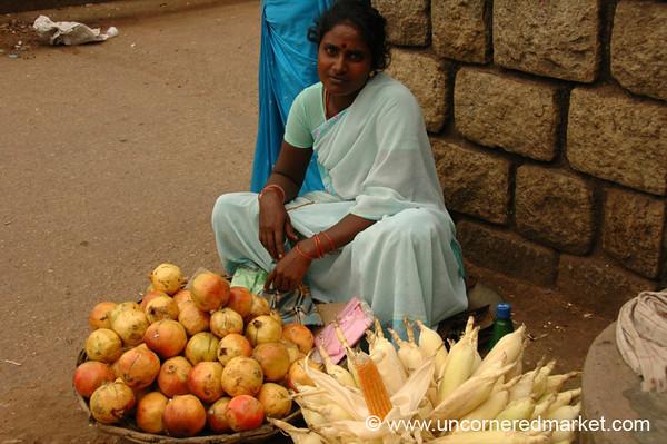 Pomegranates and Corn - Kollam, India