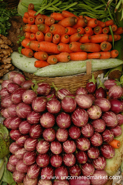 Carrot and Aubergine Pile - Kollam, India