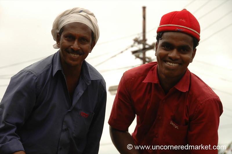 Hard at Work, But Smiling - Kollam, India