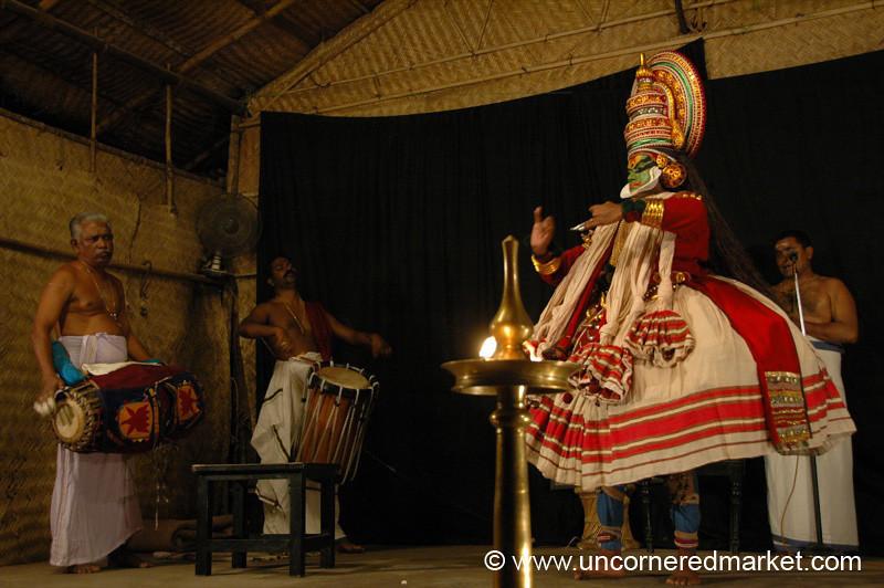 A Kathakali Performance in Kochi, India