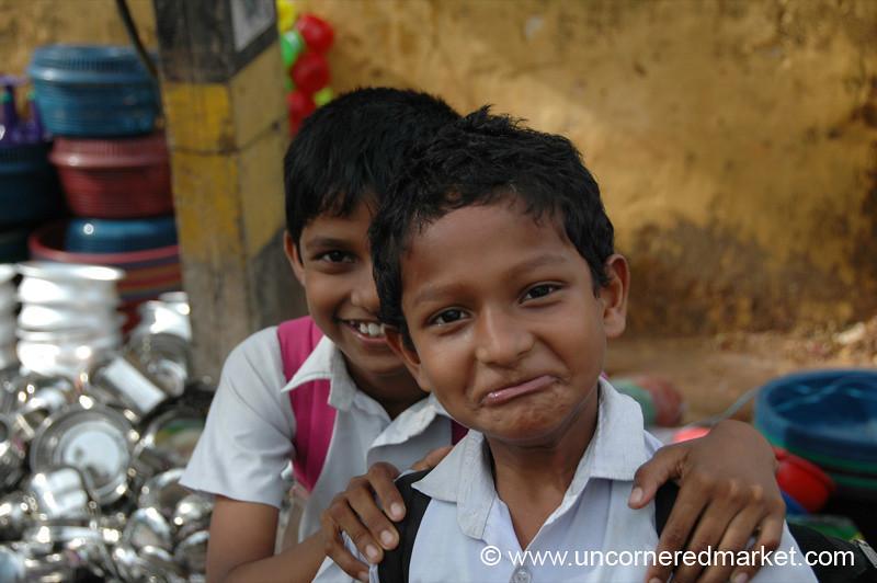 Holding Back a Laugh - Kochi, India