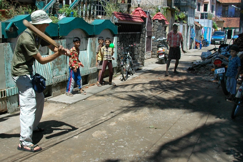 Street Cricket Lessons - Kerala, India
