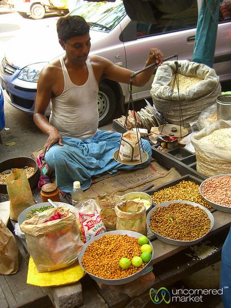 Weighing Your Snack - Kolkata, India