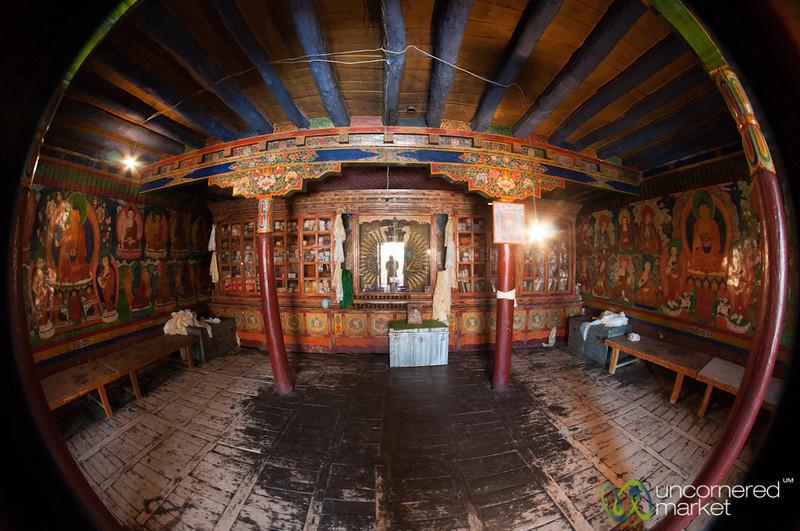 Likir Monastery Buddhist Temple Fisheye - Ladakh, India