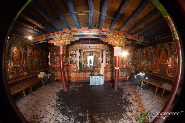 Likir Monastery Buddhist Temple Fisheye - Ladakh, India