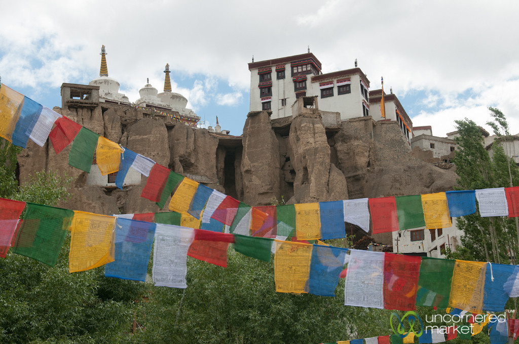 Tibetan Prayer Flags and Lamayuru Monastery - Ladakh, India