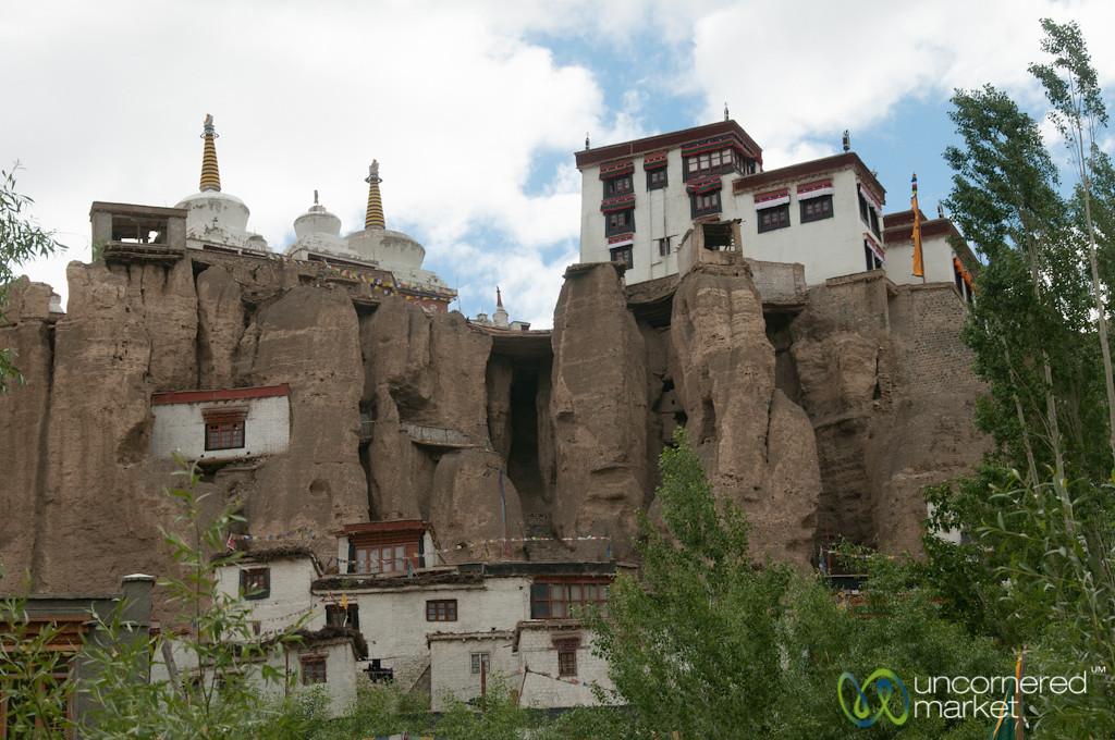 Lamayuru Monastery Perched Over Town - Ladakh, India
