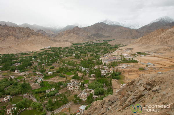 View over Leh from Namgyal Tsemo Gompa - Ladakh, India