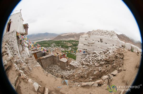 Namgyal Tsemo Gompa in Fisheye - Leh, Ladakh