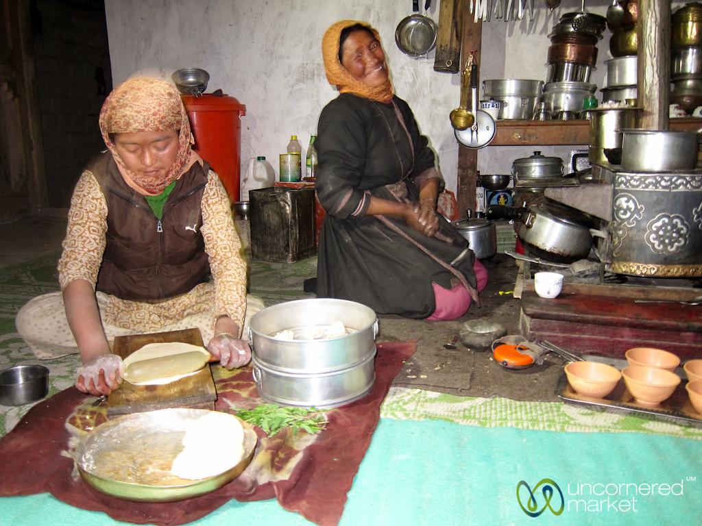 Ladakhi Homestay, Preparing Dinner - Hankar Village, Ladakh