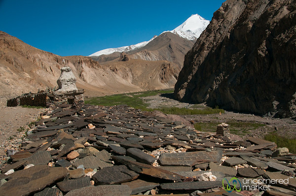 Mani Walls and Chorten, Day 4 of Markha Valley Trek - Ladakh, India