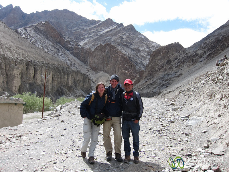 Dan, Audrey and Dorjee - Starting our Markha Valley Trek in Ladkah, India