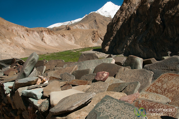 Mani Wall at Hankar Village - Markha Valley Trek, Ladakh