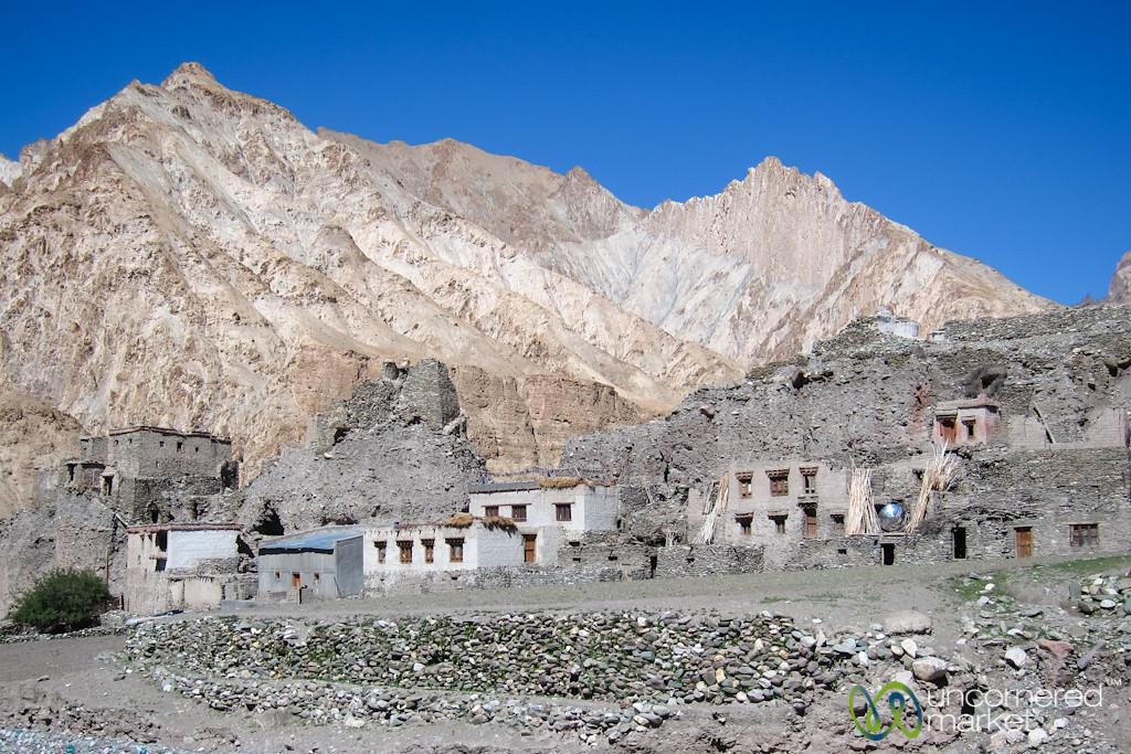 Markha Valley Villages Built into Rocks - Ladakh, India