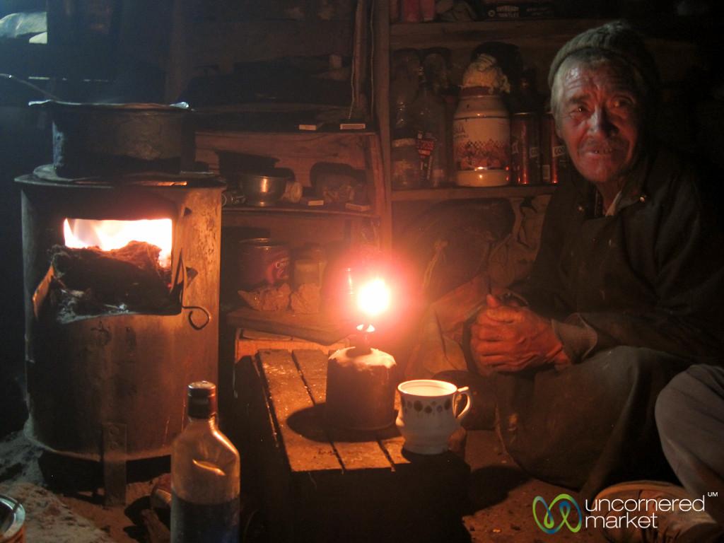 Tea Time in Shepherd's Shelter - Nimiling, Ladakh