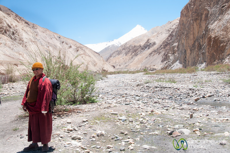 Buddhist Monk on the Trails - Ladakh, India