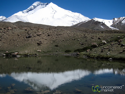 Lake Reflections of Snow Covered Mountains, Lunchtime Spot - Markha Valley Trek, Ladakh