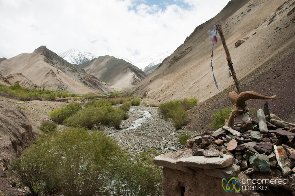Chorten in the Valley, Day 1 of Markha Valley Trek - Ladakh, India
