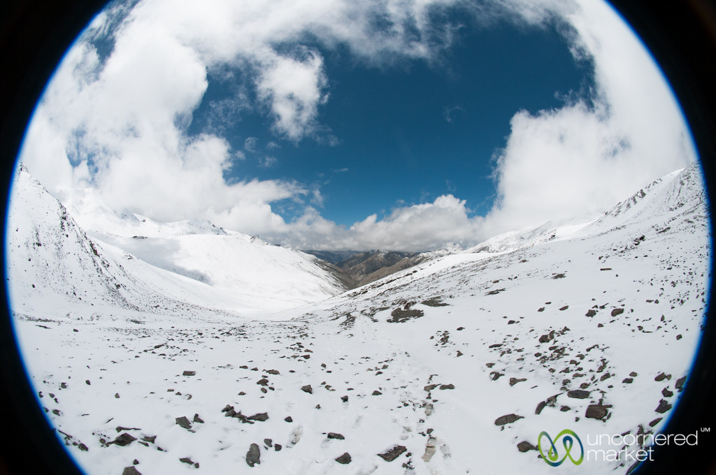 Fisheye View of Ganda La  - Yurutse, Ladakh