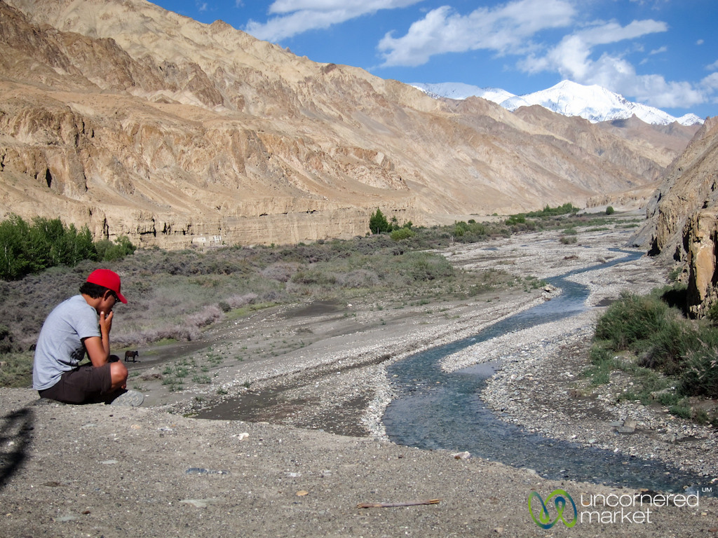 Taking a Break - Markha Valley Trek, Ladakh