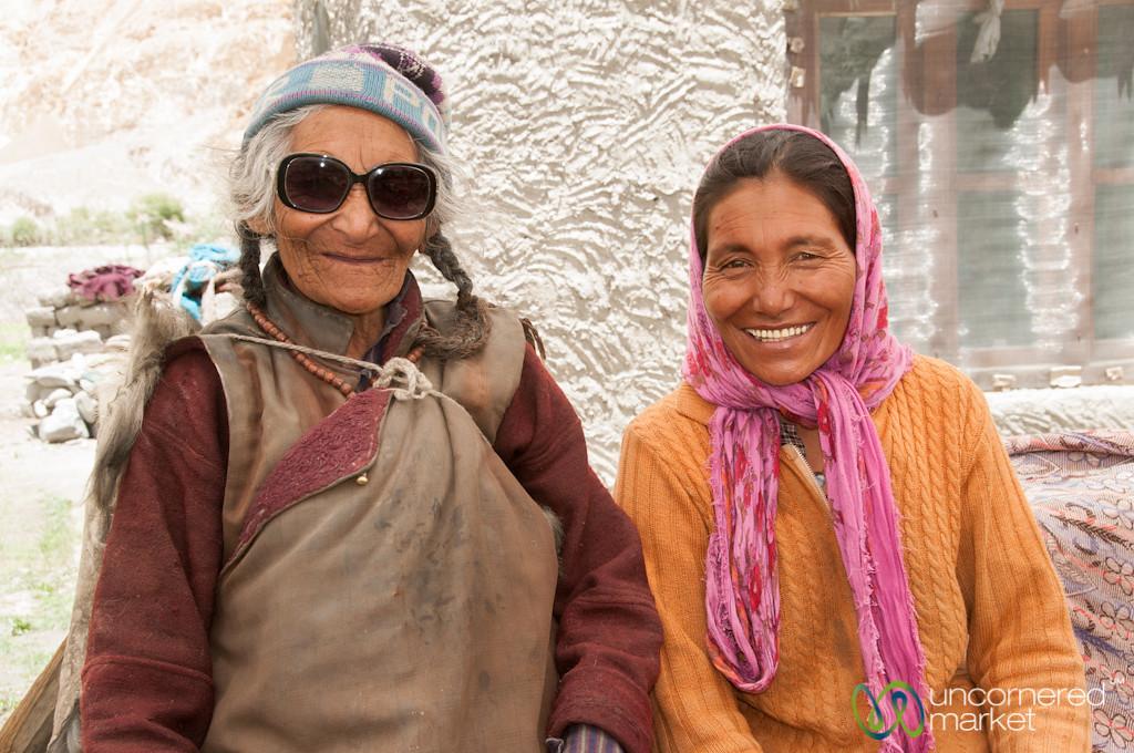 Ladakhi Women, Mother and Daughter - Markha Valley Trek, Ladakh