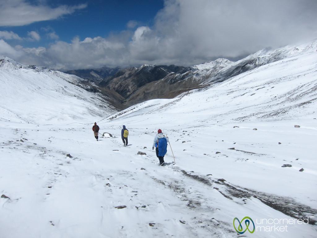 Walking Down from Ganda La Pass - Ladakh, India