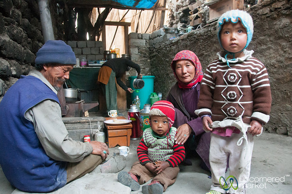 Ladakhi Family in Skyu Village - Ladakh, India