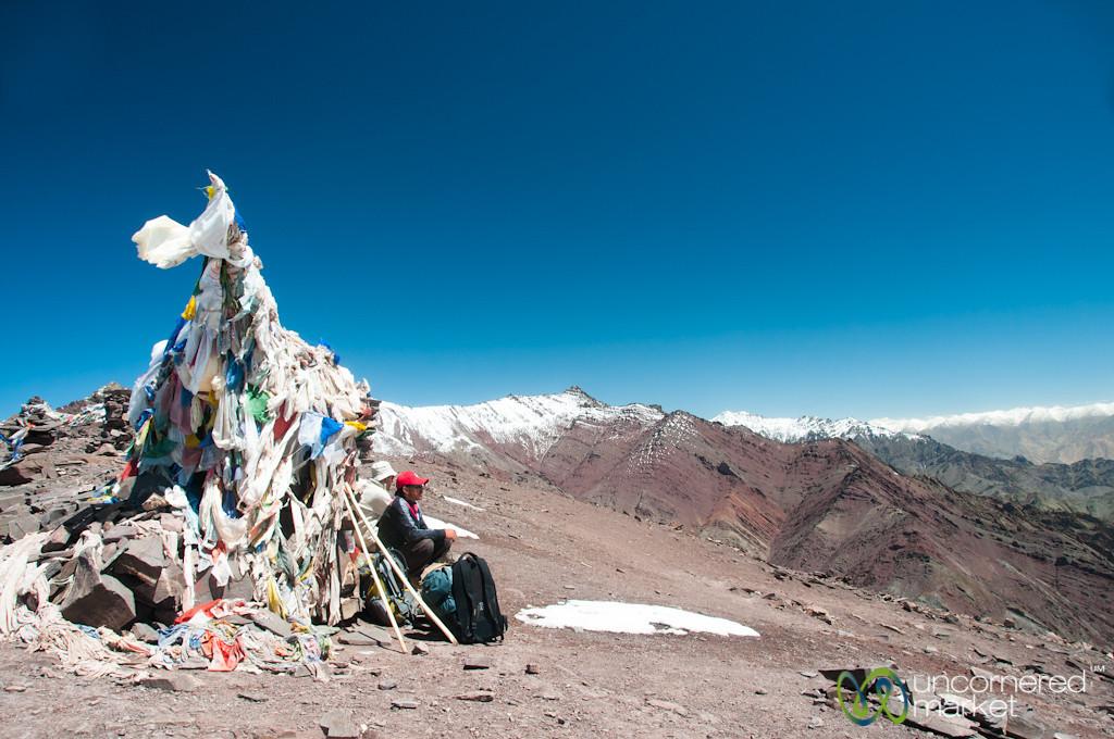 Gongmaru La Pass, Prayer Flags at the Top - Ladakh, India