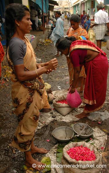 Flower Market Morning: Madurai, India