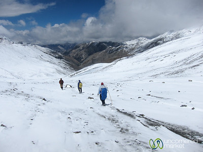 Walking Down from Ganda La Pass - Ladakh, India