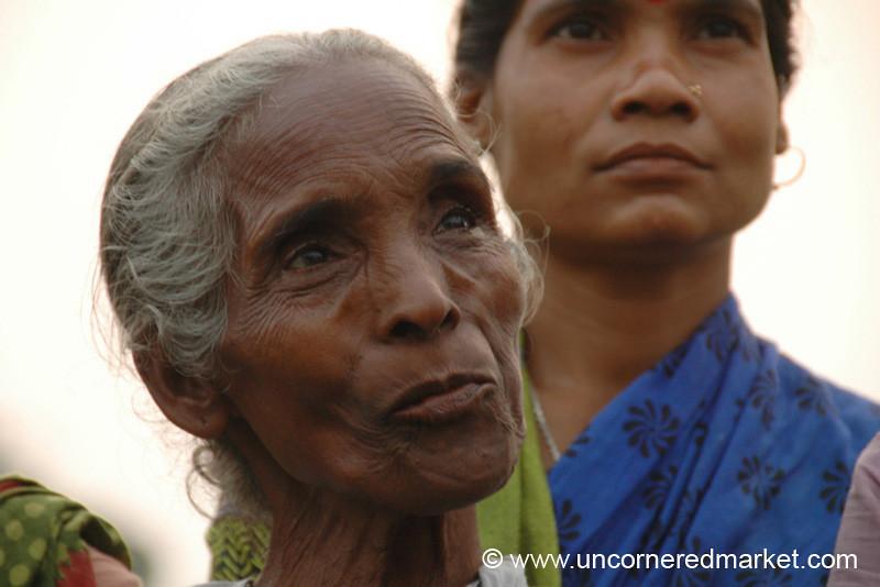 Beautiful Older Indian Woman, Microfinance - West Bengal, India