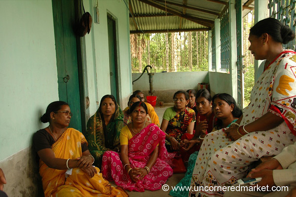 Women's Meeting, Microfinance - West Bengal, India